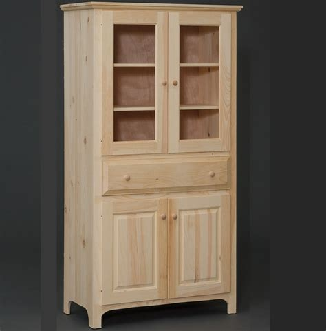 Built In Pantry Cabinet Amish Built 4 Door Pantry Cabinet