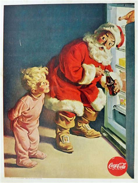 Coca Cola Background Check 1959 Coca Cola Coke Ad Santa Checks Fridge Vintage Coca Cola Ads