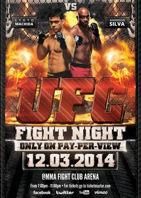 ufc poster template ufc fight flyer template by vectormediagr on