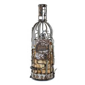 Features of our steampunk raw metal wine cork holder