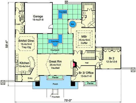 home plans with courtyards mediterranean home plan with central courtyard 57268ha 1st floor master suite courtyard