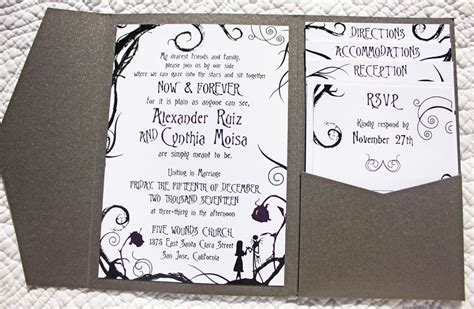The Nightmare Before Wedding Invitations
