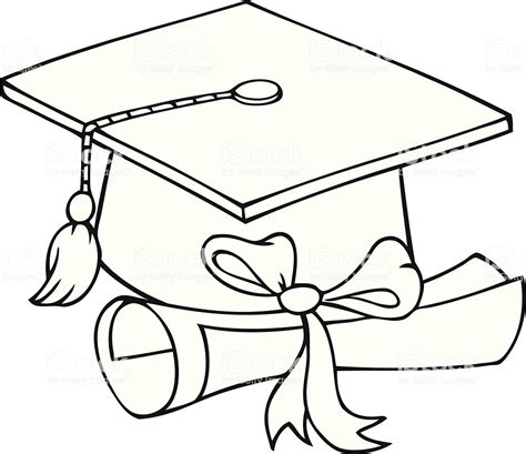clipart bianco e nero bianco e nero cappello di laurea e diploma immagini