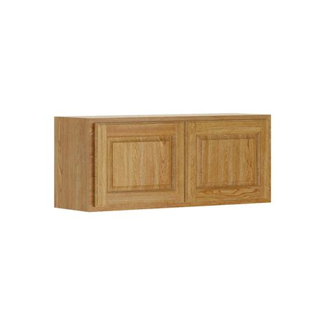 Hampton Bay Madison Assembled 36x15x12 in. Wall Bridge Cabinet in Medium Oak W3615 MMO   The