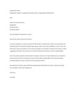 Building Contract Letter Sle Letter Of Termination Template 8 Free Sle Exle Format Free Premium Templates