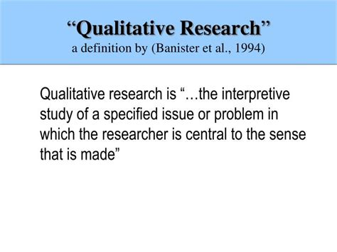 banister meaning ppt introduction to qualitative research powerpoint presentation id 2786936