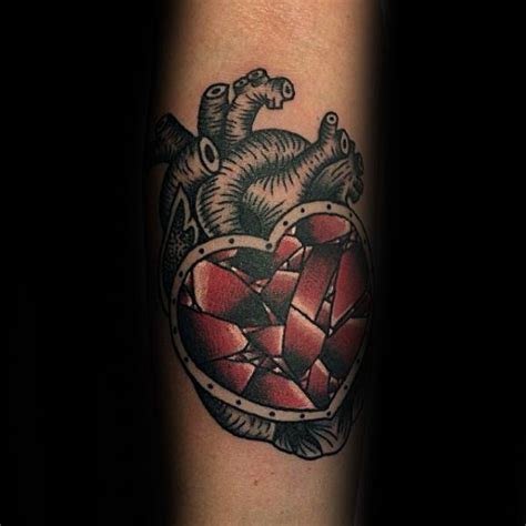 broken heart tattoos for men 40 broken designs for split ink ideas