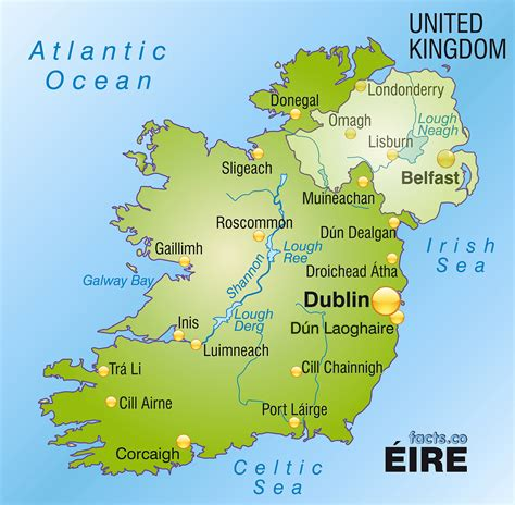 map ireland ireland map blank political ireland map with cities