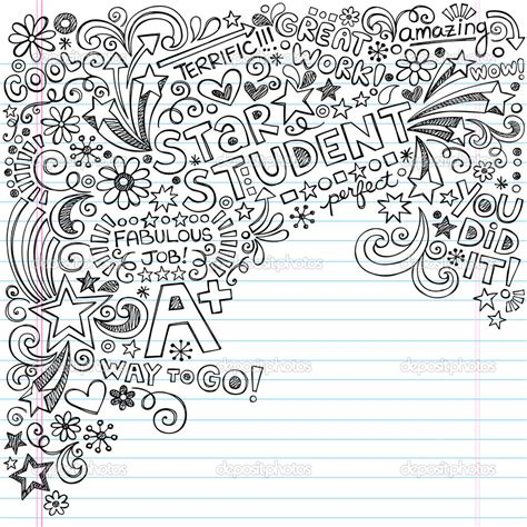 doodle on paper depositphotos 22934710 student a plus inky scribble