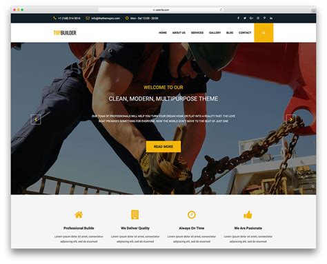 bootstrap templates for construction 10 free bootstrap construction company website templates 2018