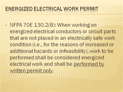 energized electrical work permit template nanohub org resources electrical safety safe work