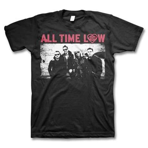 all time low merch shirts hats albums store