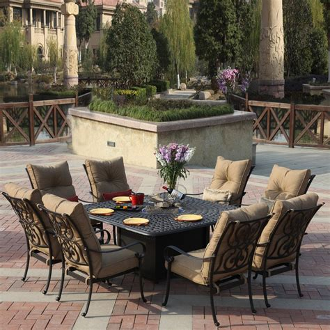 special features  patio dining sets lowes interior exterior ideas