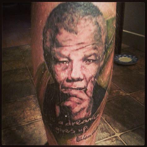 nelson mandela tattoo my nelson mandela portrait tattoo picture