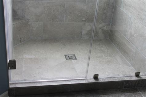 shower floor tile large tile shower floor