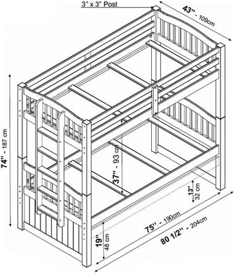 bunk bed dimensions how are standard bunk beds latitudebrowser