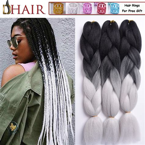 kanekolan hair black white grey online get cheap xpressions hair for braiding aliexpress