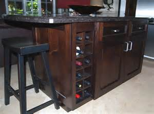 Wine Rack Kitchen Island by Merrill Unlimited Gallery I
