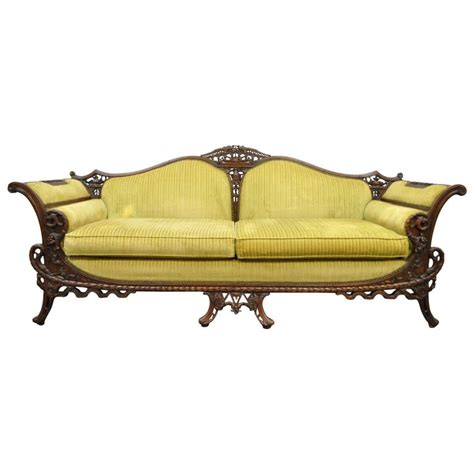 chinese chippendale sofa 1930s mahogany chinese chippendale transitional swan and
