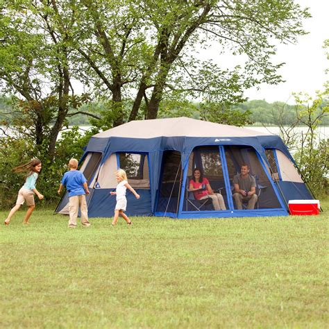 ozark trail 12 person instant cabin tent with screen room ozark trail 12 person 2 room instant cabin tent with screen room ebay