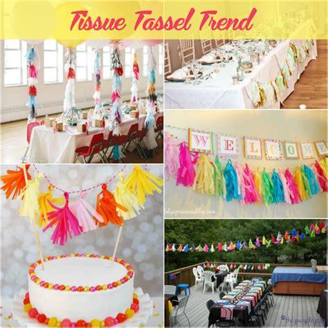 Trendy Tissue tissue tassels trend