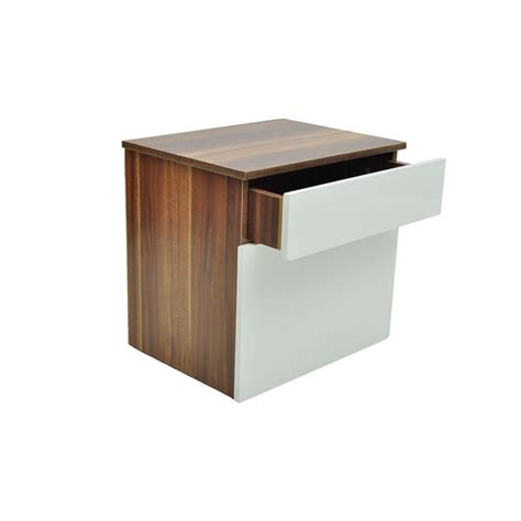 white bedside table 1 drawer and shelf brown 1 drawer bedside cabinet bedroom table brown white