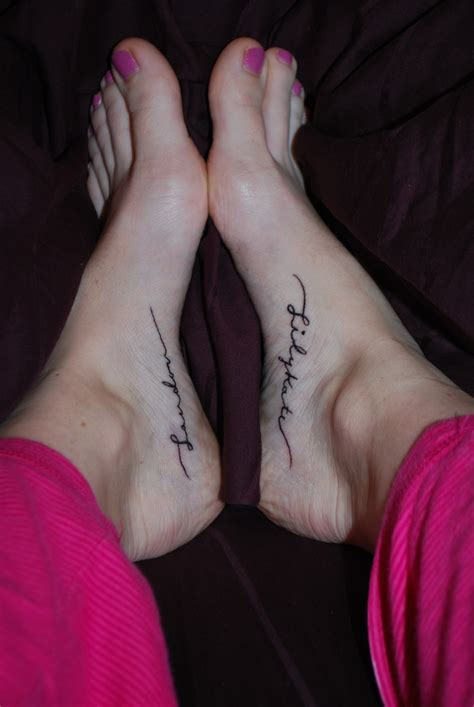 ankle tattoo designs with kids names foot tattoos children s names tattoos