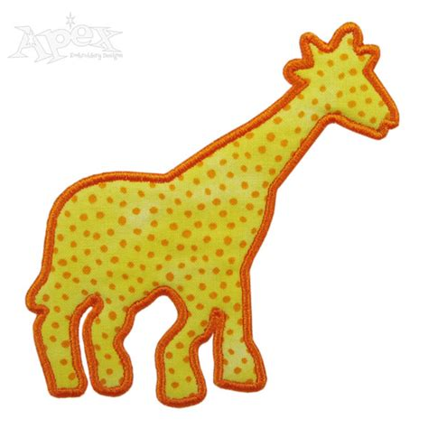 giraffe applique giraffe applique embroidery design