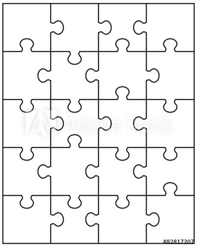 """Illustration of white puzzle, vector"" Stock image and"