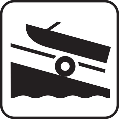 boat launch icon boat launch white clip art at clker vector clip art