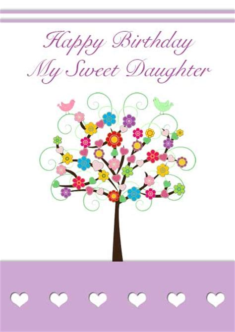 printable birthday cards for daughter free printable birthday cards for your son or daughter
