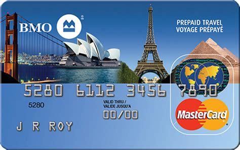 Bmo Prepaid Gift Card - interest free prepaid travel mastercard bmo