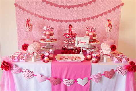 valentines day table valentines party ideas