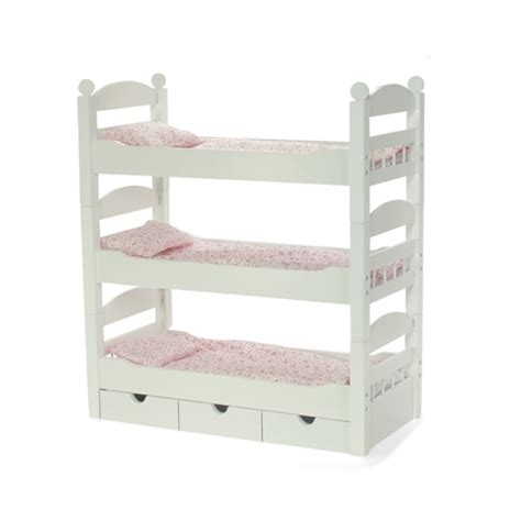 18 doll bunk bed 18 inch doll furniture stackable triple bunk bed with