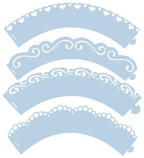 mini cupcake wrapper template