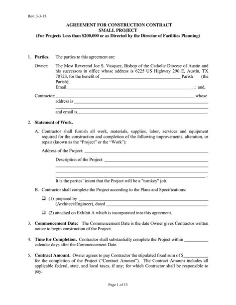 contract builder agreement for construction contract in word and pdf formats