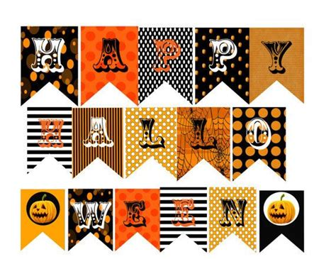 free printable halloween banner templates happy halloween banner templates festival collections