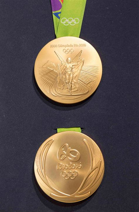 gold medal pattern the 2016 rio olympics medals embrace sustainable design