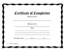 Certificate Of Completion Template Free Business Forms Printables Check Registers Memo Notes