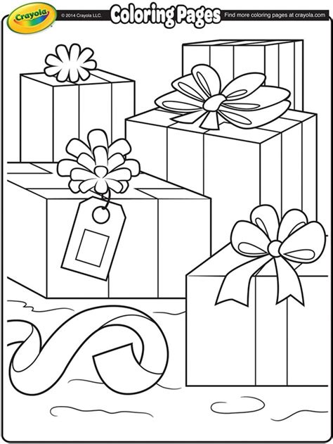 crayola coloring pages for christmas christmas packages coloring page crayola com
