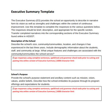 executive summary template writing and editing services executive brief writing