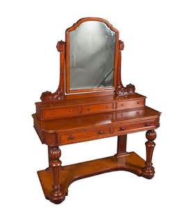 Antique Vanity Table Antique Period Mahogany Dressing Table Dresser Vanity Ebay