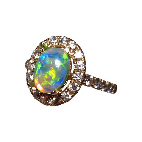 opal and ring vibrant color flashopal