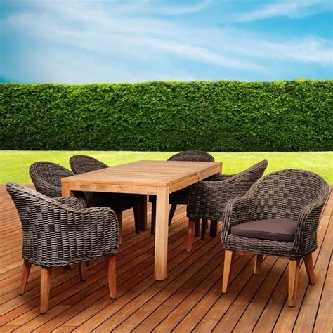 international home amazonia teak 7 patio dining set