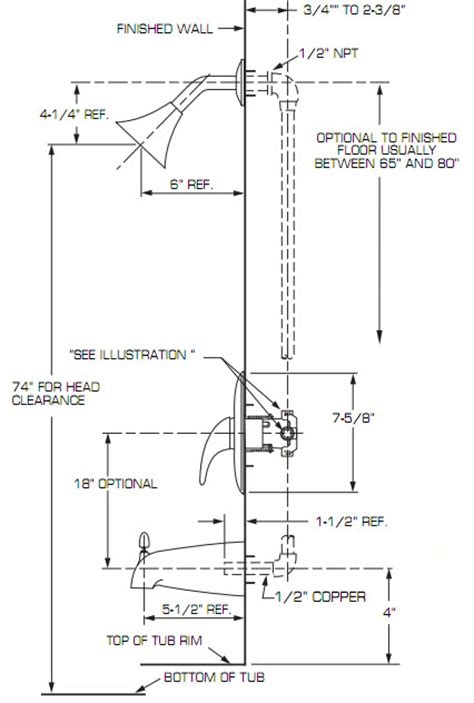 Standard Shower Faucet Height installing a bathtub plumbing help