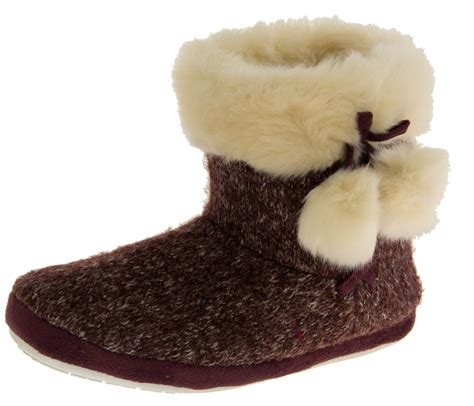 knitted boot slippers dunlop boot slippers warm fur lined knitted sipper