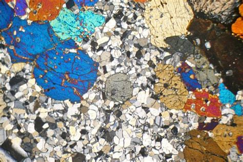 hypersthene in thin section hypersthene gabbro ardnamurchan scotland thin section