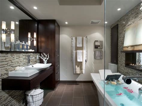 Modern Spa Bathroom by 10 Stylish Bathroom Storage Solutions Bathroom Ideas