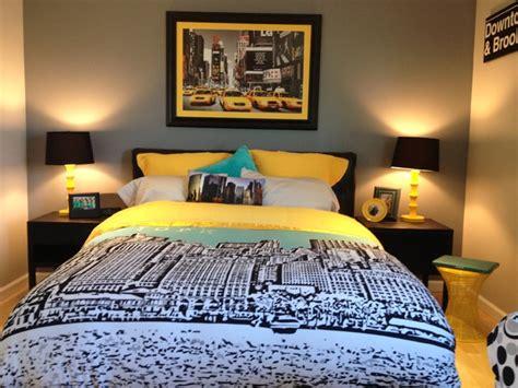 nyc inspired teen room contemporary bedroom  york  chantel renee design