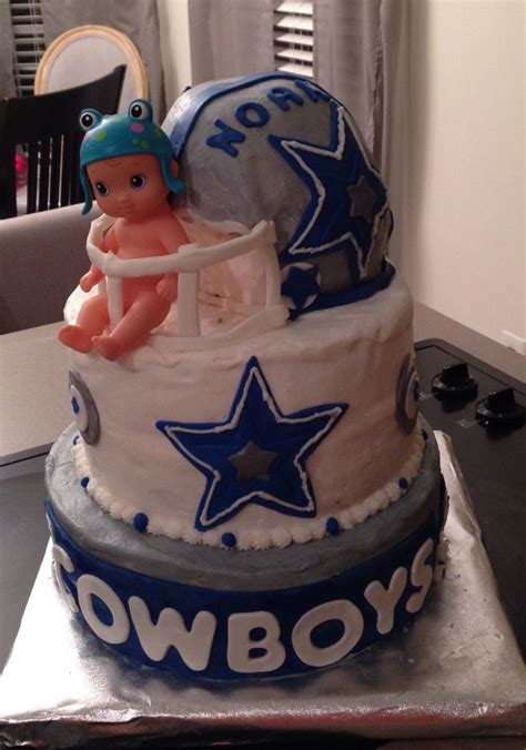Dallas Cowboys Baby Shower Cake by 359 Best Ideas About Cakes On Sugar Flowers